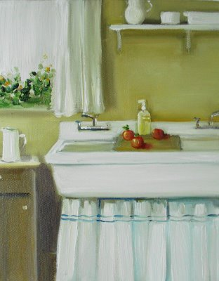 Skirted sink