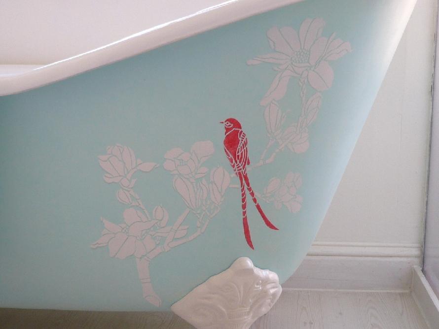 Red bird web