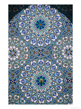 Lpi13877_14~Mosaic-Detail-of-Hassan-Ii-Mosque-Casablanca-Morocco-Posters