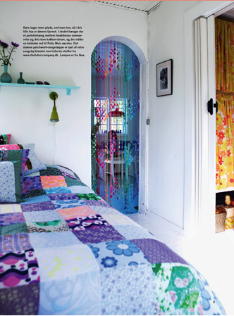 Bed, large patchwork