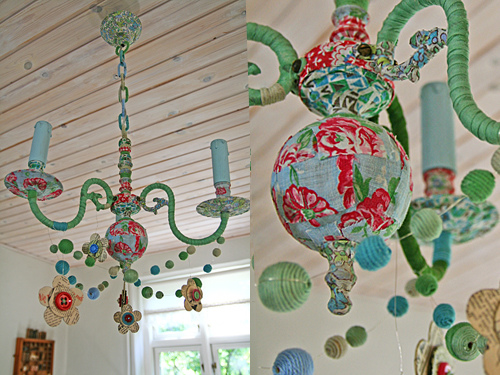 Cloth chandelier