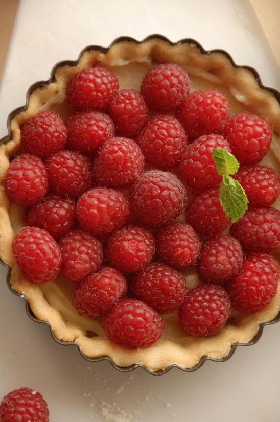 Raspepberry tartlet, Hidden in Paris cookbook