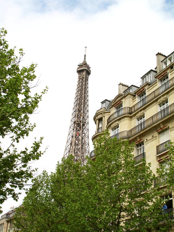 Eiffel Tower peek-a boo