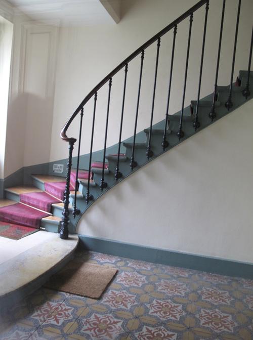 Corine Gantz a stairwell in Paris