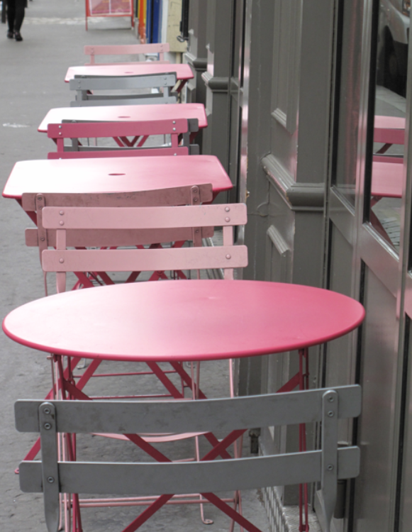 Parisian bistro tables Corine Gantz