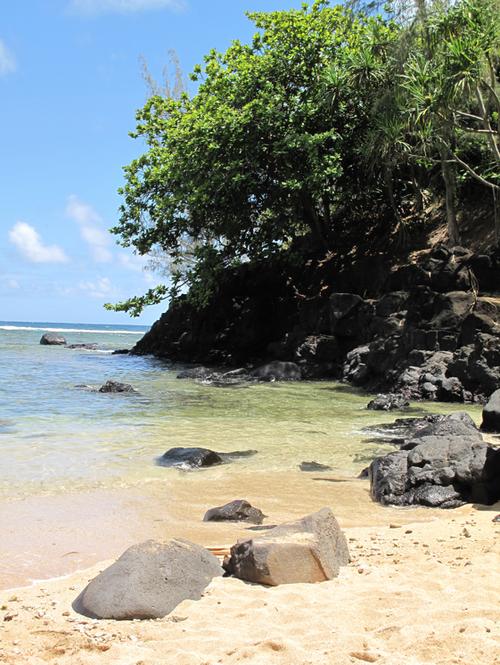 Not a soul on the beach, kauai
