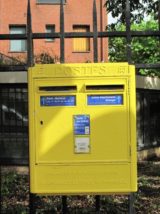 Mail box:boite aux lettres paris