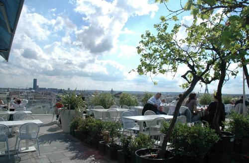 Restaurant Printemps Paris terrace