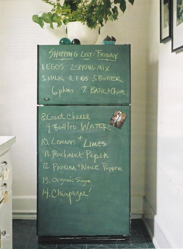 Chalkboardfridge